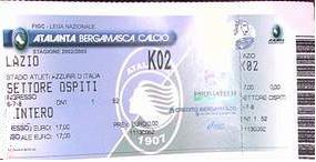 Biglietto Atalanta vs Lazio 2002-03