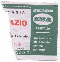 Biglietto Foggia vs Lazio 1973-74 (inviato da Faber '67)