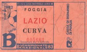 Biglietto Foggia vs Lazio 1982-83