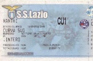 Biglietto Lazio vs Xanti 2002-03 Coppa UEFA