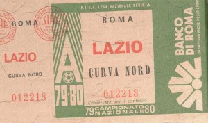 Biglietto Roma vs Lazio 1979-80