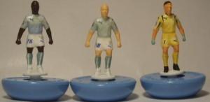 Lazio 2007-2008 da sx a dx Mudingayi, Rocchi e Peruzzi.